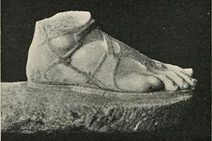 Női szandál az ókori Görögországból